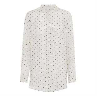 MOSHI MOSHI MIND - DOTTED ALWAYS SHIRT - ECRU/BLACK