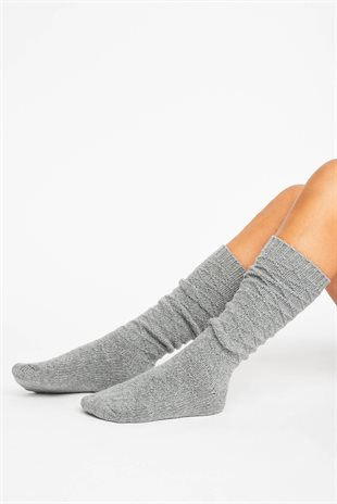 HOMELY SOCKS - HEATHER GREY MELANGE