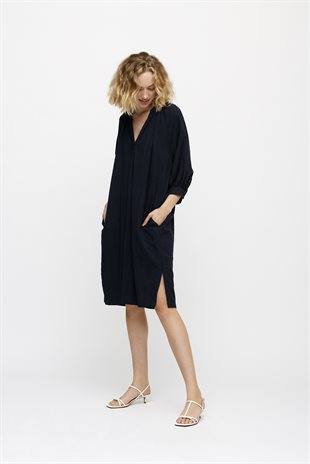 MOSHI MOSHI MIND - FOREVER SHIRTDRESS WAVE - DARK NAVY
