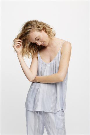 MOSHI MOSHI MIND - DAWN TOP STRIPE - BLUE MIX