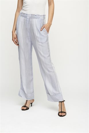 MOSHI MOSHI MIND - MOVE PANTS STRIPE - BLUE MIX