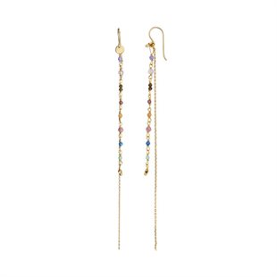 STINE A - PETIT GEMSTONES WITH LONG CHAIN - GULD