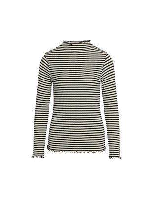 MADS NØRGAARD - MIX TRUTTE 5X5 STRIPE - OFF WHITE/BLACK
