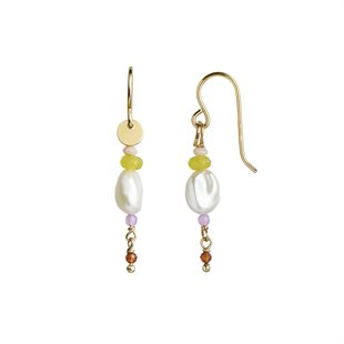 STINE A - PETIT BAROQUE PEARL EARRING - GULD
