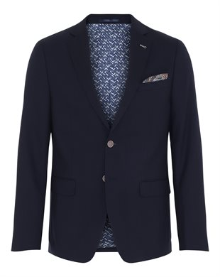 2 BLIND 2 C - 139 FRESCO STRETCH BLAZER 278 - NAVY
