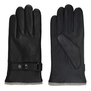 2 BLIND 2 C - 155  GLOVES LEATHER 2BAC133 - BLACK