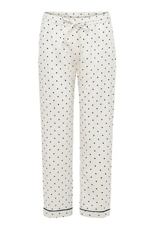 MOSHI MOSHI MIND - DOTTED REST PANTS - ECRU/BLACK