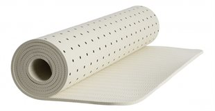 MOSHI MOSHI MIND - DOTTED SIGNATURE YOGA MAT - ECRU/BLACK