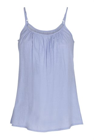 MOSHI MOSHI MIND - NIGHT TOP CHAMBRAY - LIGHT BLUE CHA