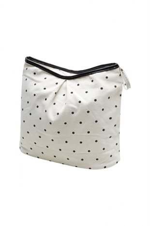 MOSHI MOSHI MIND - DOT BEAUTY BAG - ECRU/BLACK DOTS