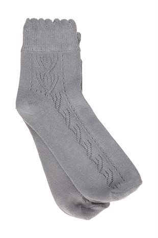 MOSHI MOSHI MIND - LILYLACE SOCKS - GREY