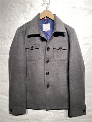 2 BLIND 2 C - JEREMY SHIRT JACKET - LIGHT GREY