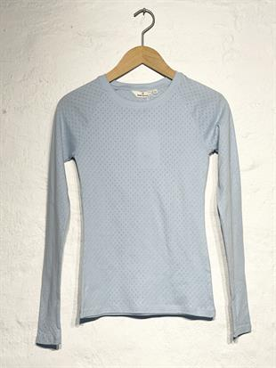 BASIC APPAREL - ARENSE LS TEE - CASHMERE BLUE