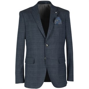 2 BLIND 2 C - STRETCH 370  BLAZER - NAVY
