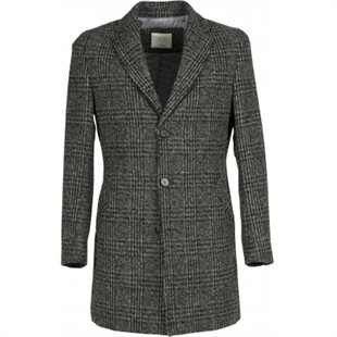 2 BLIND 2 C - COAT LONG 160 - DARK GREY CHECK