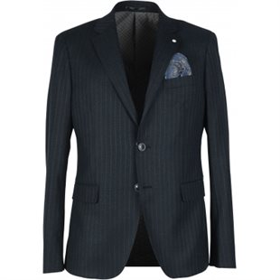 2 BLIND 2 C - SHELTON 356 - NAVY PINSTRIPE