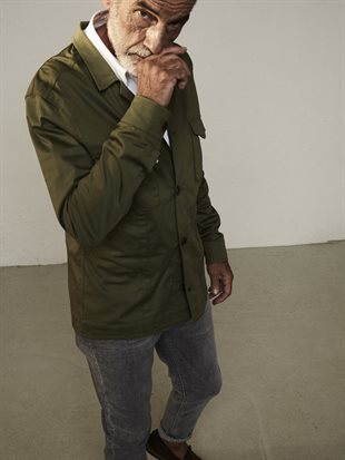 MOS MOSH GALLERY - MILO COLE OVERSHIRT - GRASS GREEN