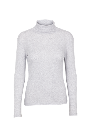 BASIC APPAREL - ARENSE ROLL NECK - GREY MELANGE
