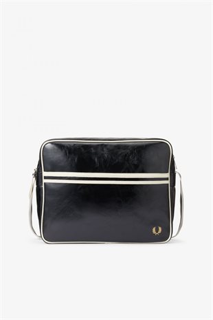 FRED PERRY - CLASSIC SHOULDER BAG - BLACK/ECRU