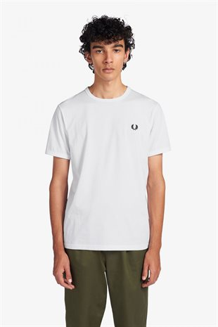 FRED PERRY - RINGER T-SHIRT - WHITE