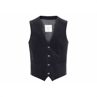 2 BLIND 2 C -142 FRESCO SUIT VEST FITTED - NAV