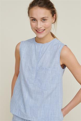 VICKI TOP HARRIET - NAVY