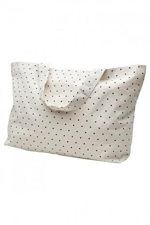 BIG DOT BAG - ECRU/BLACK