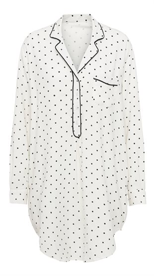 DOTTED SILENT SHIRT - ECRU/BLACK