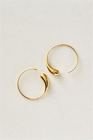 STUDIO LOMA - FLORA EARRING LARGE - GULD