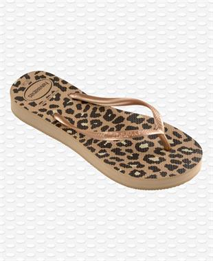 HAVAIANAS - SLIM FLATFORM ANIMAL - ROSE GOLD