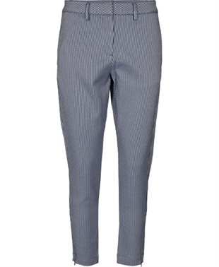RABENS SALONER - BRENA STRIPED SUITING RELEX - BLUE/WHITE