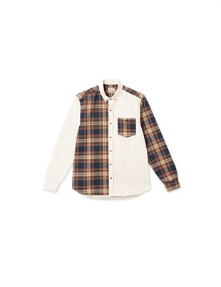 FORÉT - SEAL SHIRT - CHECK BROWN